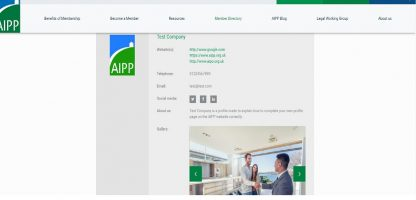 New AIPP Members Profile